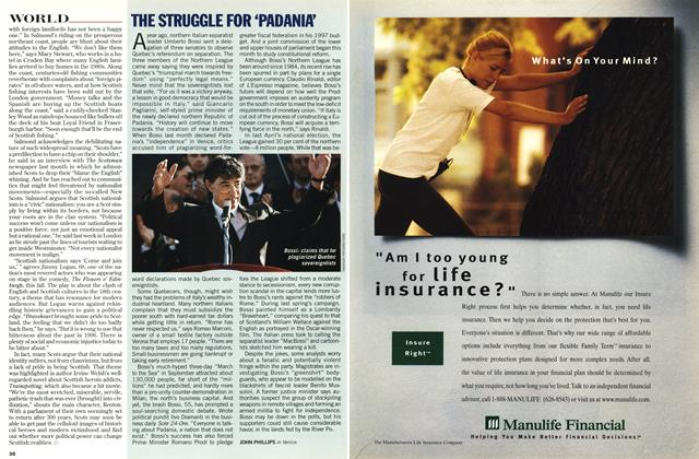 Article Preview: THE STRUGGLE FOR 'PADANIA', OCTOBER  1996 | Maclean's