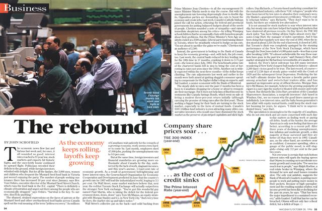Article Preview: The rebound, OCTOBER  1996 | Maclean's