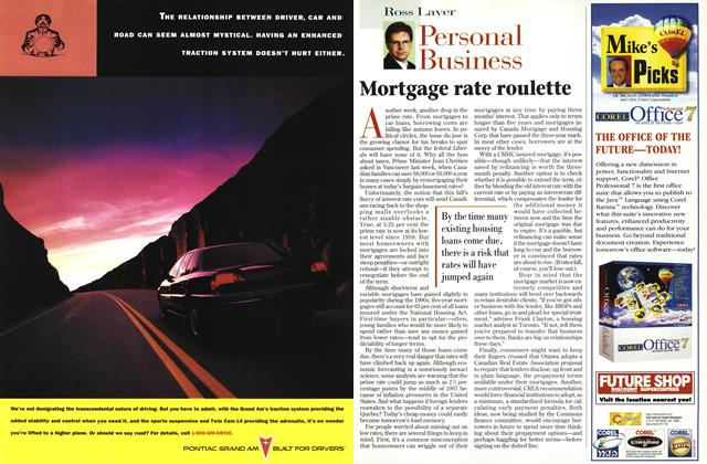 Article Preview: Mortgage rate roulette, OCTOBER  1996 | Maclean's
