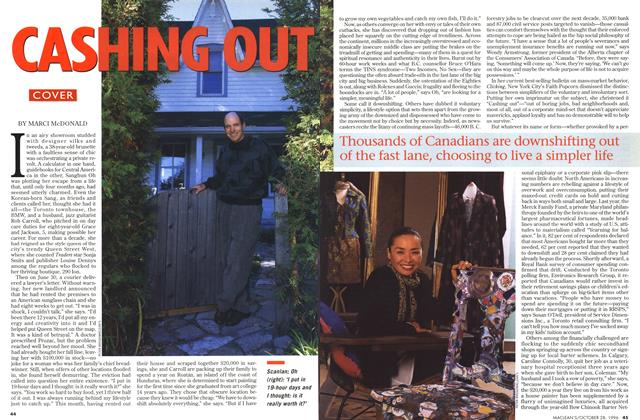Article Preview: CASHING OUT, OCTOBER  1996 | Maclean's