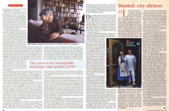 Article Preview: Wanted: city slickers, OCTOBER  1996 | Maclean's