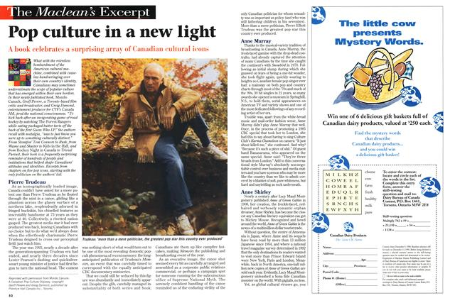 Article Preview: Pop culture in a new light, OCTOBER  1996 | Maclean's