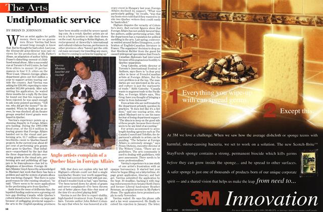 Article Preview: Undiplomatic service, OCTOBER  1996 | Maclean's