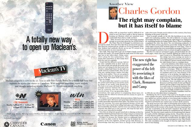 "Article Preview: ""The right may complain, but it has itself to blame, OCTOBER  1996 