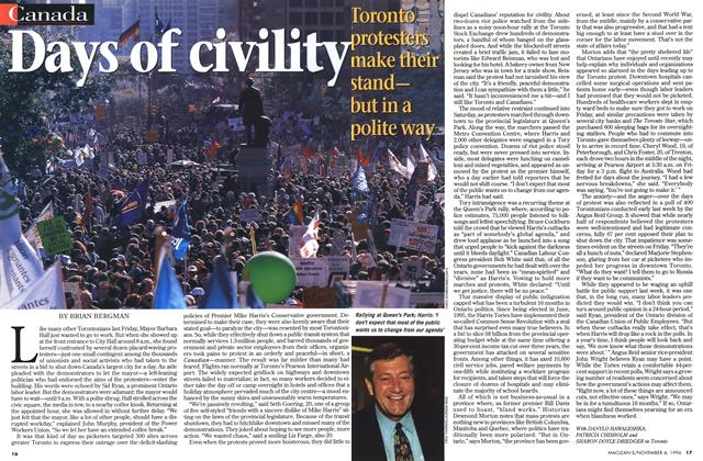Article Preview: Days of civility, November 1996 | Maclean's