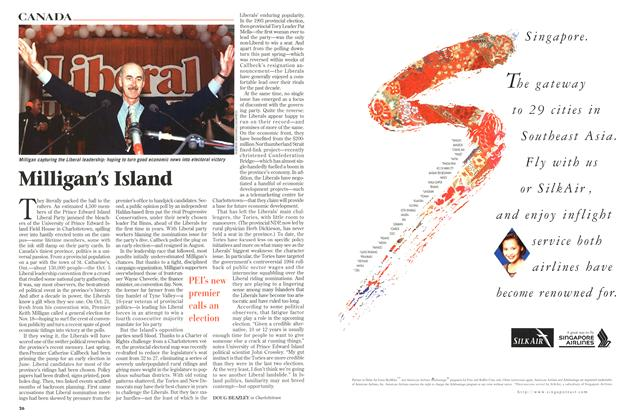 Article Preview: Milligan's Island, November 1996 | Maclean's