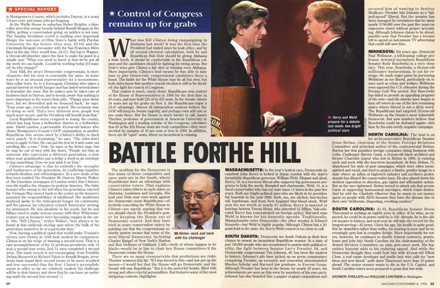 Article Preview: BATTLE FOR THE HILL, November 1996 | Maclean's