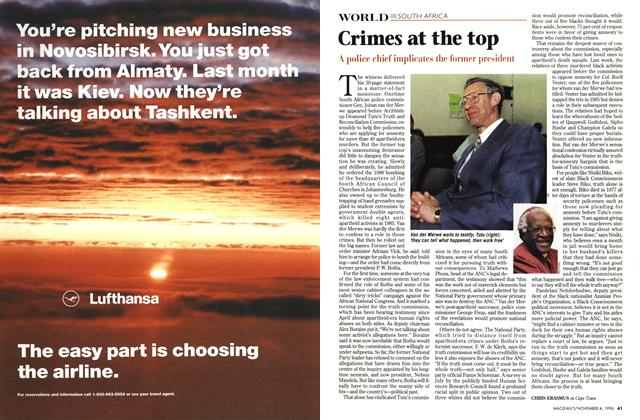 Article Preview: Crimes at the top, November 1996 | Maclean's
