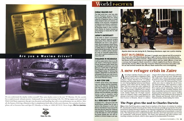 Article Preview: World NOTES, November 1996 | Maclean's