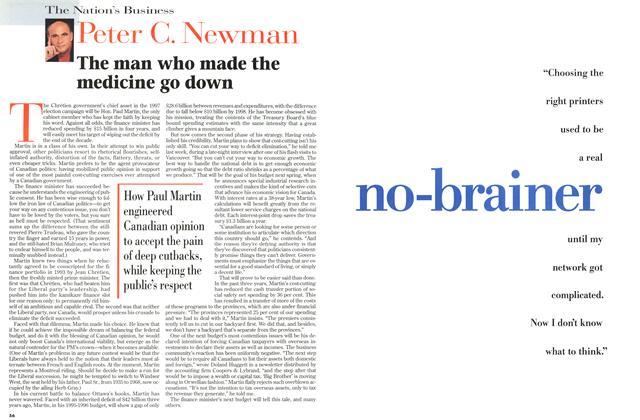 Article Preview: The man who made the medicine go down, November 1996 | Maclean's