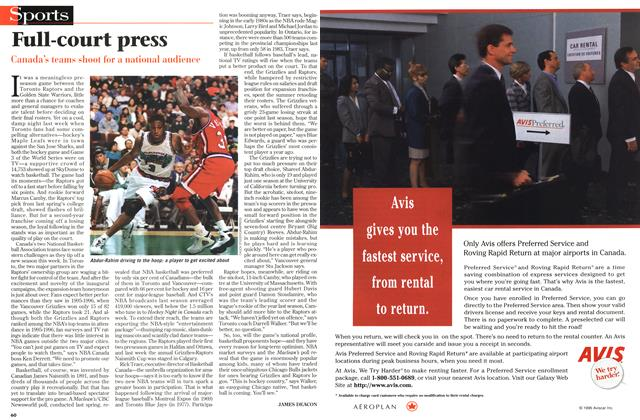 Article Preview: Full-court press, November 1996 | Maclean's