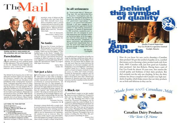 Article Preview: The Mail, November 1996 | Maclean's