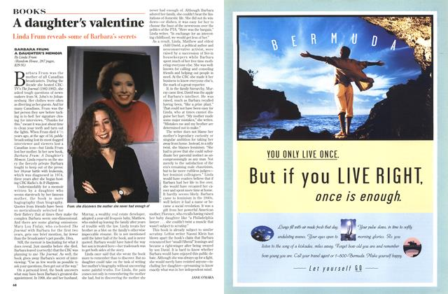 Article Preview: A daughter's valentine, November 1996 | Maclean's