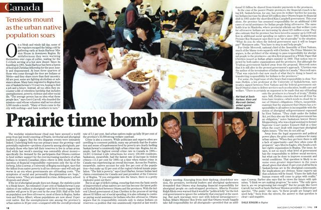 Article Preview: Prairie time bomb, November 1996 | Maclean's