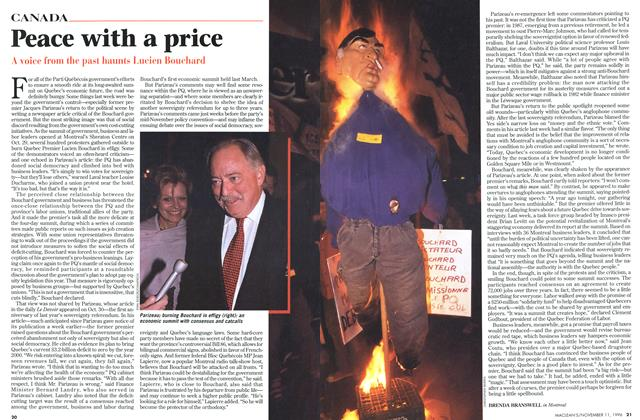 Article Preview: Peace with a price, November 1996 | Maclean's