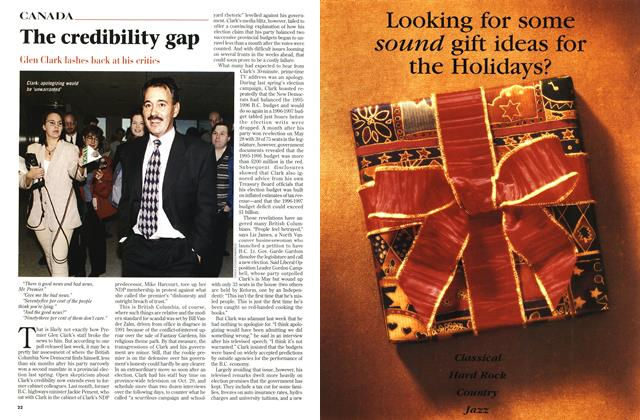 Article Preview: The credibility gap, November 1996 | Maclean's