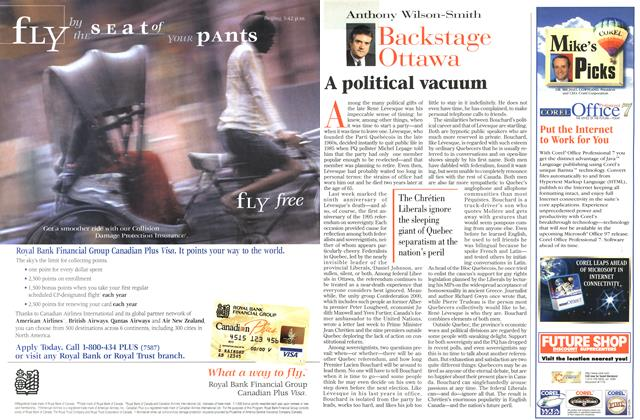 Article Preview: A political vacuum, November 1996 | Maclean's