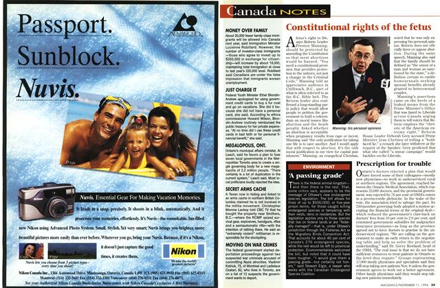 Article Preview: Canada NOTES, November 1996 | Maclean's