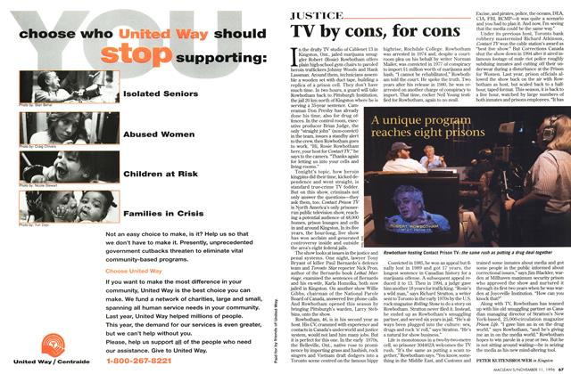 Article Preview: TV by cons, for cons, November 1996 | Maclean's