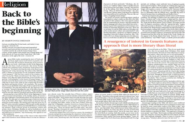 Article Preview: Back to the Bible's beginning, November 1996 | Maclean's