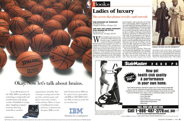 Article Preview: Ladies of luxury, November 1996 | Maclean's