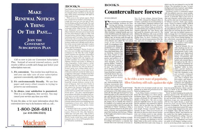 Article Preview: Counterculture forever, November 1996 | Maclean's