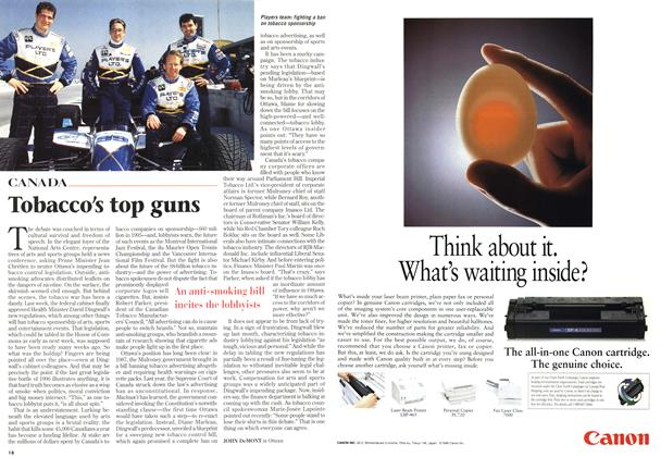 Article Preview: Tobacco's top guns, November 1996 | Maclean's