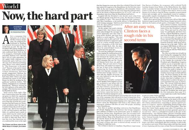Article Preview: Now, the hard part, November 1996 | Maclean's