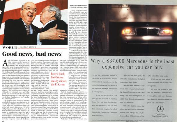 Article Preview: Good news, bad news, November 1996 | Maclean's