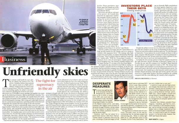 Article Preview: Unfriendly skies, November 1996 | Maclean's