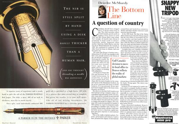 Article Preview: A question of country, November 1996 | Maclean's