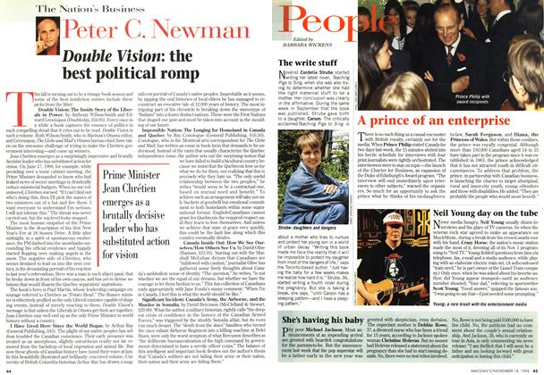 Article Preview: Double Vision: the best political romp, November 1996 | Maclean's