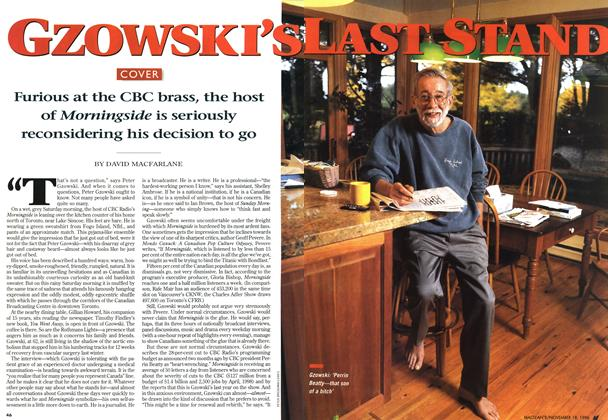 Article Preview: GZOWSKI'S LAST STAND, November 1996 | Maclean's