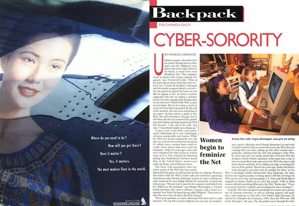 Article Preview: CYBER-SORORITY, November 1996 | Maclean's