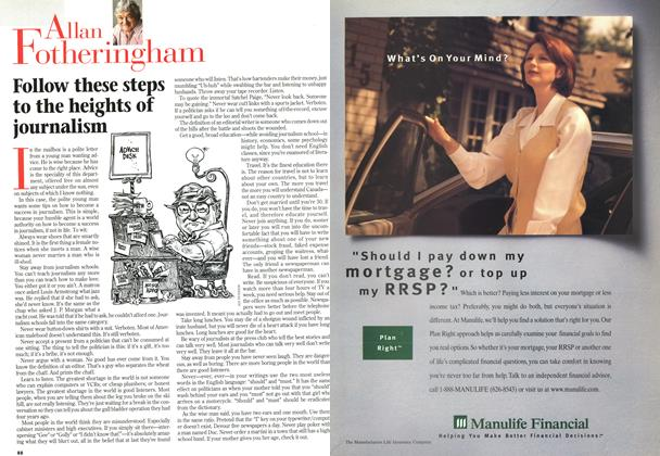 Article Preview: Follow these steps to the heights of journalism, November 1996 | Maclean's