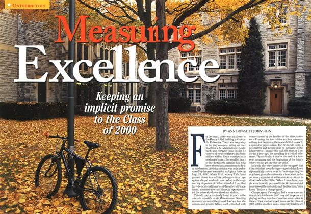 Article Preview: Measuring Excellence, November 1996 | Maclean's