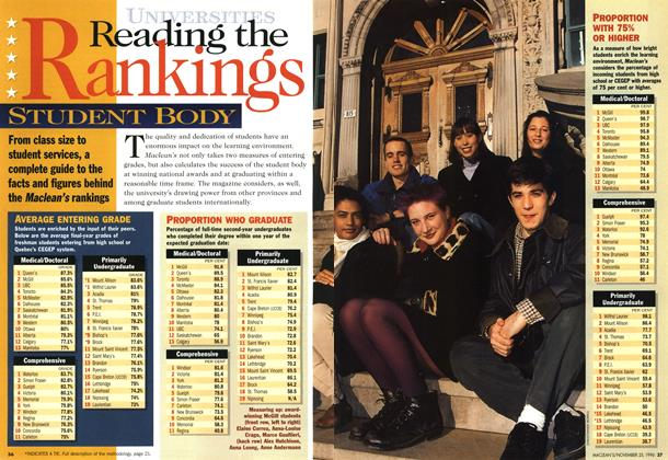 Article Preview: Reading the Ranking, November 1996 | Maclean's