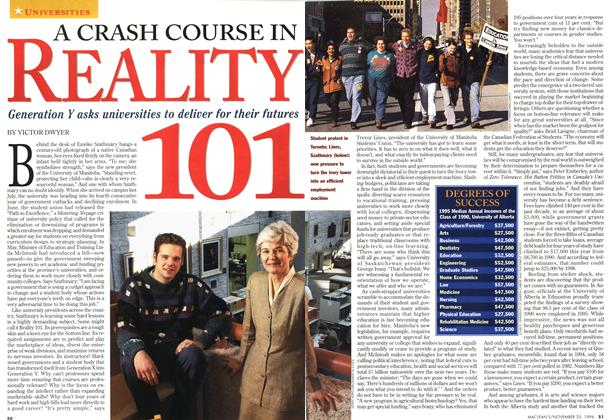 Article Preview: A CRASH COURSE IN REALITY 101, November 1996 | Maclean's