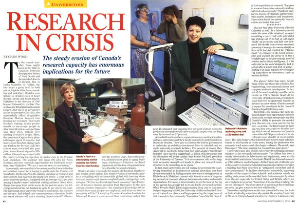 Article Preview: RESEARCH IN CRISIS, November 1996 | Maclean's
