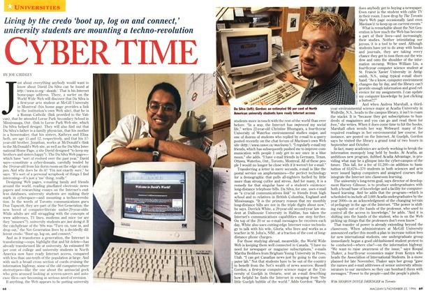 Article Preview: CYBER TIME, November 1996 | Maclean's