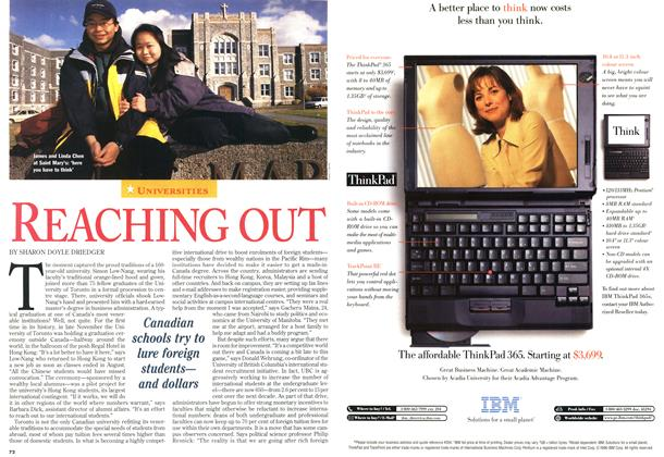 Article Preview: REACHING OUT, November 1996 | Maclean's