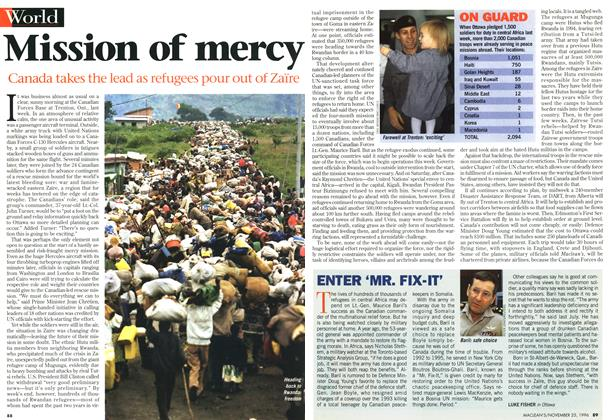 Article Preview: Mission of mercy, November 1996 | Maclean's