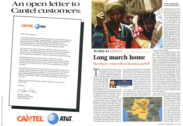 Article Preview: Long march home, November 1996 | Maclean's