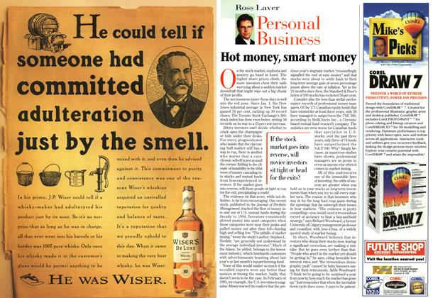 Article Preview: Hot money, smart money, November 1996 | Maclean's