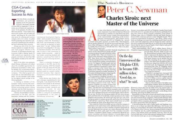 Article Preview: Charles Sirois: next Master of the Universe, November 1996 | Maclean's