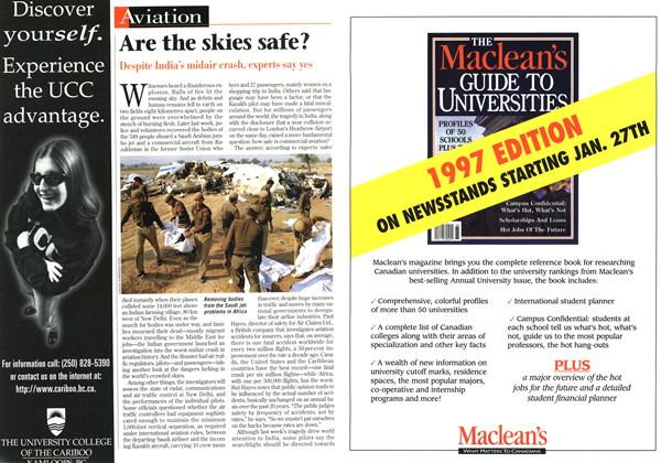 Article Preview: Are the skies safe?, November 1996 | Maclean's