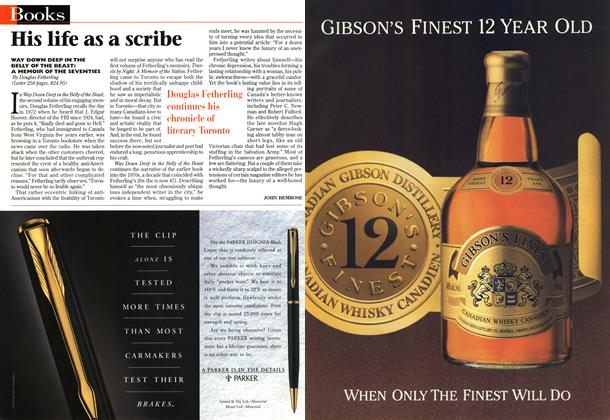 Article Preview: His life as a scribe, November 1996 | Maclean's