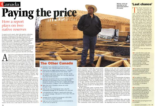 Article Preview: Paying the price, December 1996 | Maclean's
