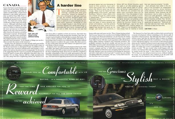 Article Preview: A harder line, December 1996 | Maclean's