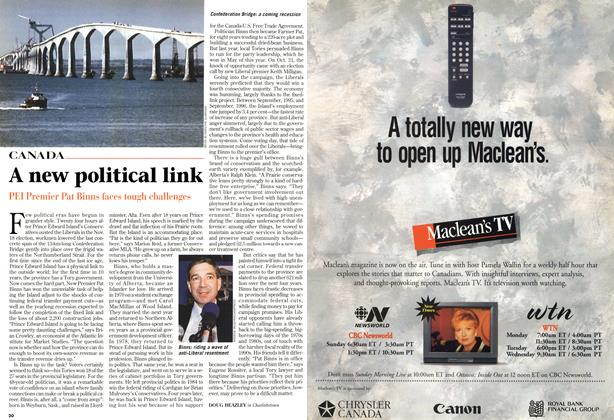 Article Preview: A new political link, December 1996 | Maclean's